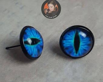 "Earrings ""Dragon Eye"" black"
