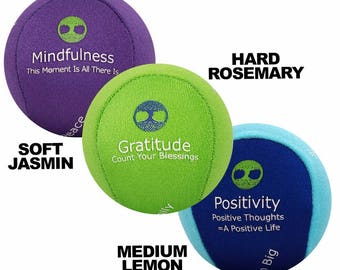 Mindfulness Stress balls with Positive affirmations and Aromatherapy