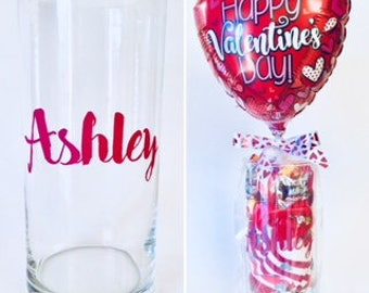 FREE CANDY! Personalized Valentine's Day Vase with Scarf