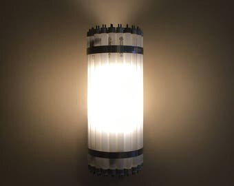 Recycled Fluorescent Tube Wall Sconce Light