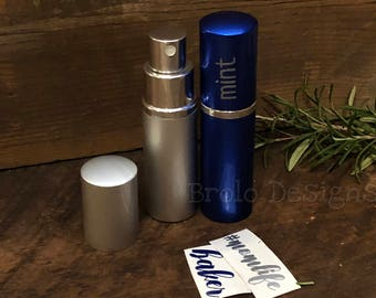 Personalized 10ml Fine Mist Travel Spray Bottle | Atomizer  | Perfect for your DIY Essential Oil Sprays