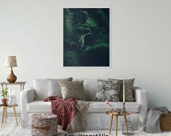 Fern Wall Art, Fern Print Art, Botanical Leaf Art Print, Fern Leaf, Tropical Leaf, Fern Poster, Printable Fern Leaf, Tropical Leaf Decor