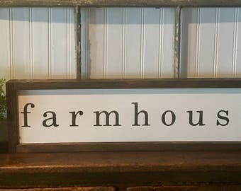 Handpainted framed wood sign- Farmhouse