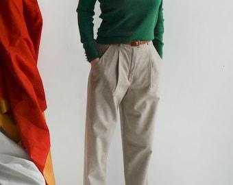 grenn wool roller neck sweater XS/S