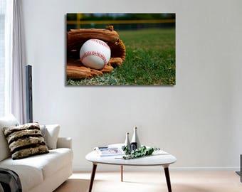 Baseball Wall Art Baseball Canvas Print Baseball Large Wall Decor Baseball Canvas Art Baseball Painting Baseball Poster Print Baseball Art