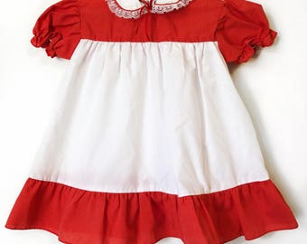 Vintage Mayfair Red & White Dress