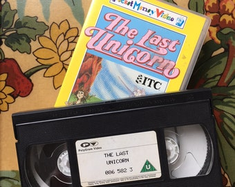 The Last Unicorn 1993 VHS Video Tape (80s 90s Animated Fantasy)