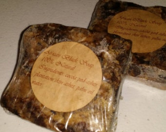 African Black Soap 100% Natural. Raw African Black Soap. Used for eczema, acne, dark spots, dryness & sensitive skin.