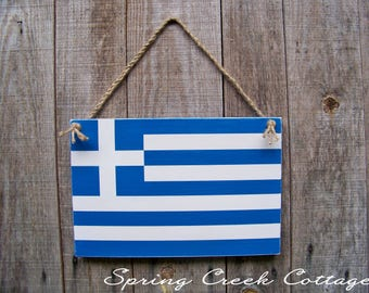 Greece, Rustic Wooden Flags, Patriotic, Wall Hangings, Home Decor, Gifts, Wooden Flags, Handpainted, Grecian Flags, Rustic, Travel, Flags