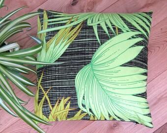 Boho Cushion Vintage Pillow Fabric Palm Leaf Botanical Cover Leaves Retro Decor