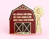 Animal Farm Enamel Pin   George Orwell, pin, dystopian pin, book pin, Book Nooks pin, book enamel pin, book lovers, dystopian book