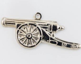 25mm Silver Cannon Charm #CHD092