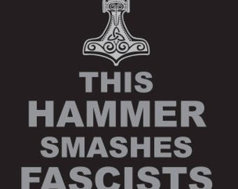"Modern Mjölnir ""This Hammer Smashes Fascists"" Patches"