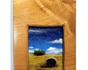Hay Bale in Golden Oak
