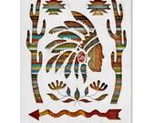 Southwest Pattern Wood Silhouette Art