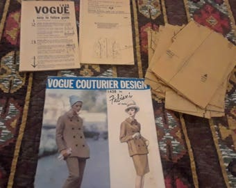 Vogue Couturier Design pattern 1428 by Fabiani of Italy Pants skirt and jacket 1965 vintage Size 12