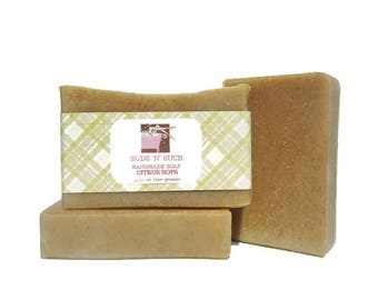 Citrus Hops Handmade Soap - Made with Hops and Essential Oils - Perfect Gift for Beer Lover