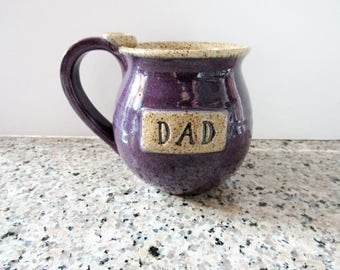 Engraved Mug for Dad - ready to ship Dad Mug in Purple glaze