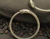 Sterling snake ring - Ouroboros Snake Ring- Snake lover gift - Sterling serpent ring - Serpent jewelry - Stackable sterling ring