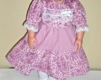 Pink School outfit---Girl doll dress---doll clothes--free shipping---doll leggings