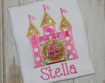 Princess Castle Shirt, Princess Castle Birthday Shirt, Princess shirt, Girl Castle Shirt, Girl Birthday shirt, sew cute creations
