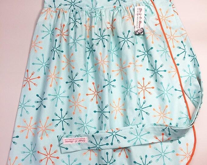 Skirt Apron - Vintage Pin Up Style - Atomic SIlverware