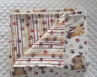 Dog Blanket, Flannel, Crate Blanket, Bedding for dog, pet blanket, dog gift, pet gift, happy puppy blanket