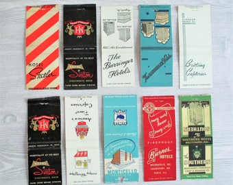 Lot of 10 Vintage Matchbook Covers - LOT C