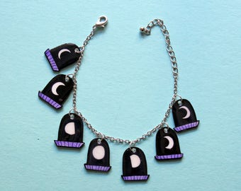 Window Moon Phase Charm Bracelet