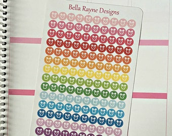 Mini icon alarm clock life planner stickers for any planner