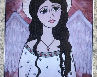 Hope Angel - ACEO Print Of OOAK Original Painting - Angels - ATC - Artist Trading Card