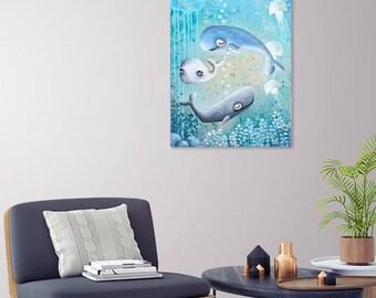 Ocean Heroes Family (Original Painting) 50x40cm