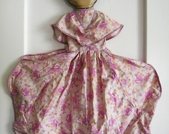 This Listing is RESERVED -Antique Laundry Bag with Oilcloth Doll Face and Flour Sack Dress Flapper Era by Dura Products