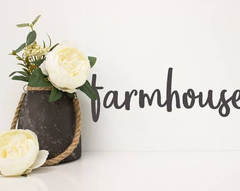 Farmhouse Decor, Farmhouse vinyl wall decal, Farmhouse decorations for Kitchen, Farm house Wall sticker sayings, Removable decals, Country