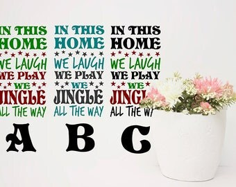 Christmas Decor, Wall Decals Christmas, Jingle All The Way, Home Decor for Christmas, Christmas Vinyl Decals, Cute Christmas Decorations