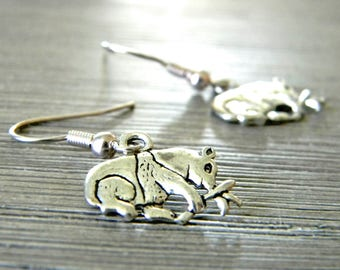 Panda Earrings Silver Color Dangle Earrings