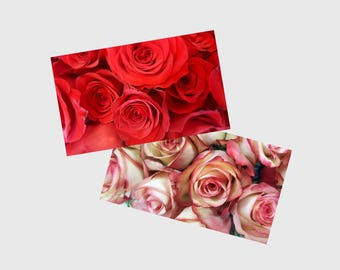 Pink and Red Roses Close Up Digital Photo Download, Flower Stock Photo, Rose Background, Wedding Theme Photographs