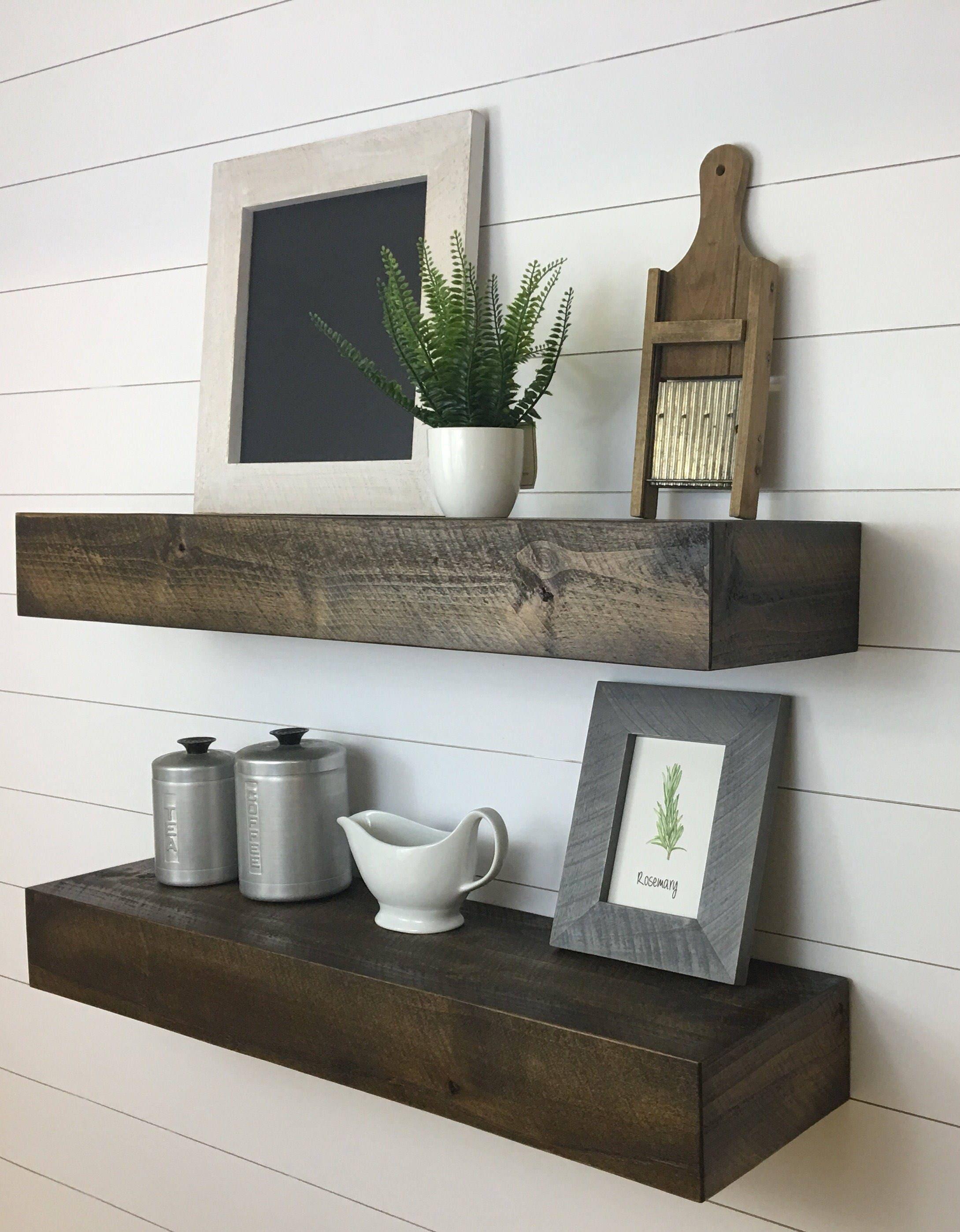 Bold Modern Floating Shelves