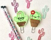 Cactus Planner Clip, Nerdy Cactus Planner Clip, Planner Supply, Planner Bookmark, Bookmark, School Supply, Teacher Gift, Office Supply