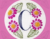 Monogram Flower PDF Pattern - C is for Cineraria