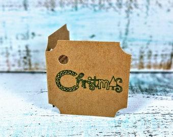 Christmas gift tags, Christmas present tags, Holiday gift tags, Christmas tree gift tag, Set of 10 gift tags, Christmas tag set