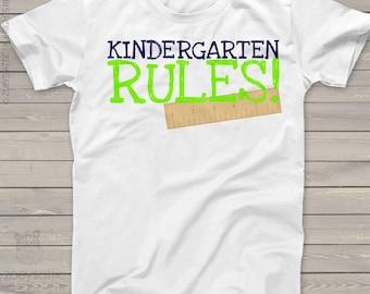 Back to school shirt - childrens kindergarten rules back to school Tshirt  mscl-079