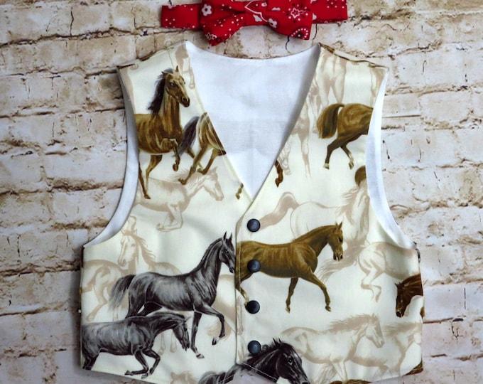 Barnyard Birthday - Farm Party - Boys Vest - Toddler Boy Clothes - Bow Tie - Barnyard Farm Animals - Barnyard Shirt - 12 months to 8 years