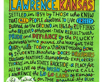 Lawrence, Kansas (11x14 art print)
