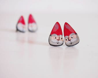 Dwarfs earrings, handpainted stud earrings