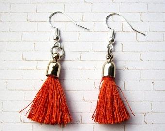 Tassel Earrings (Crimson)