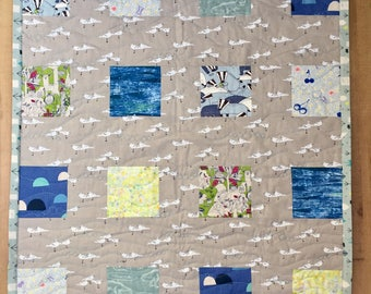 Modern Baby Quilt Handmade, Baby Blanket, Baby Girl, Baby Boy, Baby Quilt, Modern Baby Nursery, Baby Shower,