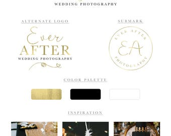 Gold Logo Photography Logo Branding Package Wedding Photography Logo Videographer Logo Wedding Planner Logo Event Planner Logo Wedding Blog