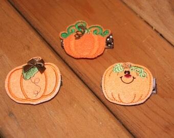 SALE - Choose a Pumpkin Hair Clip, Your Choice