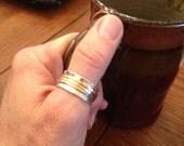 Spinnen-Ring - Rose Gold und Silber spinnerring - Mischmetall - zappeln ring